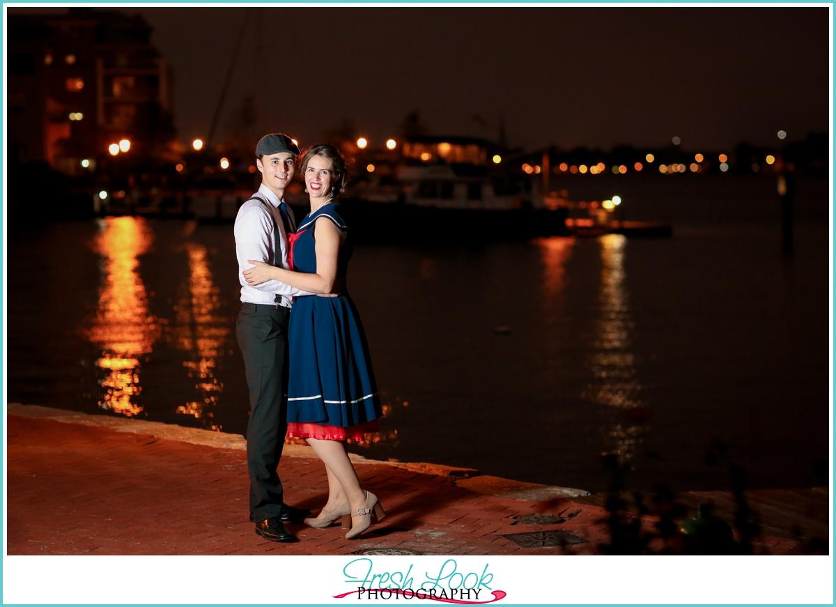 engagement photos after dark