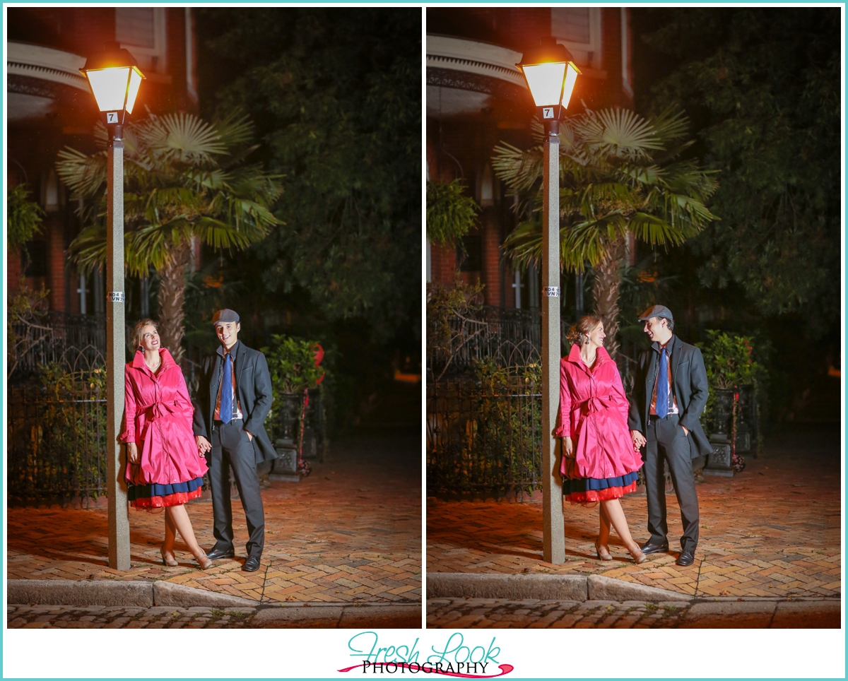 singing in the rain engagement session