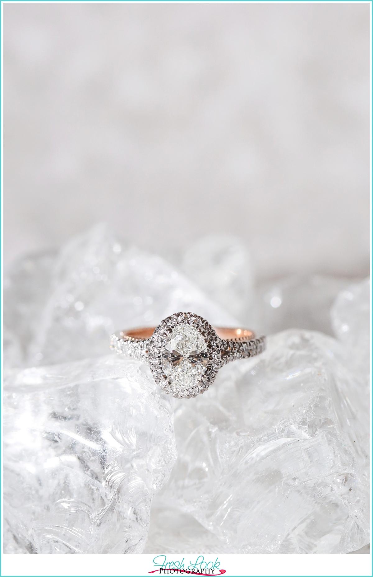 Verragio Engagement ring on ice