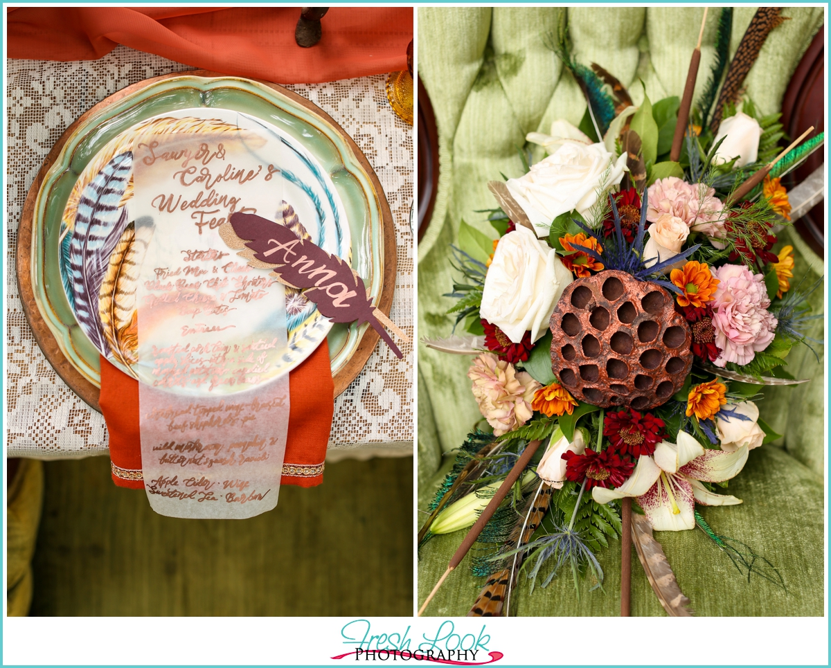 fall in love wedding reception details