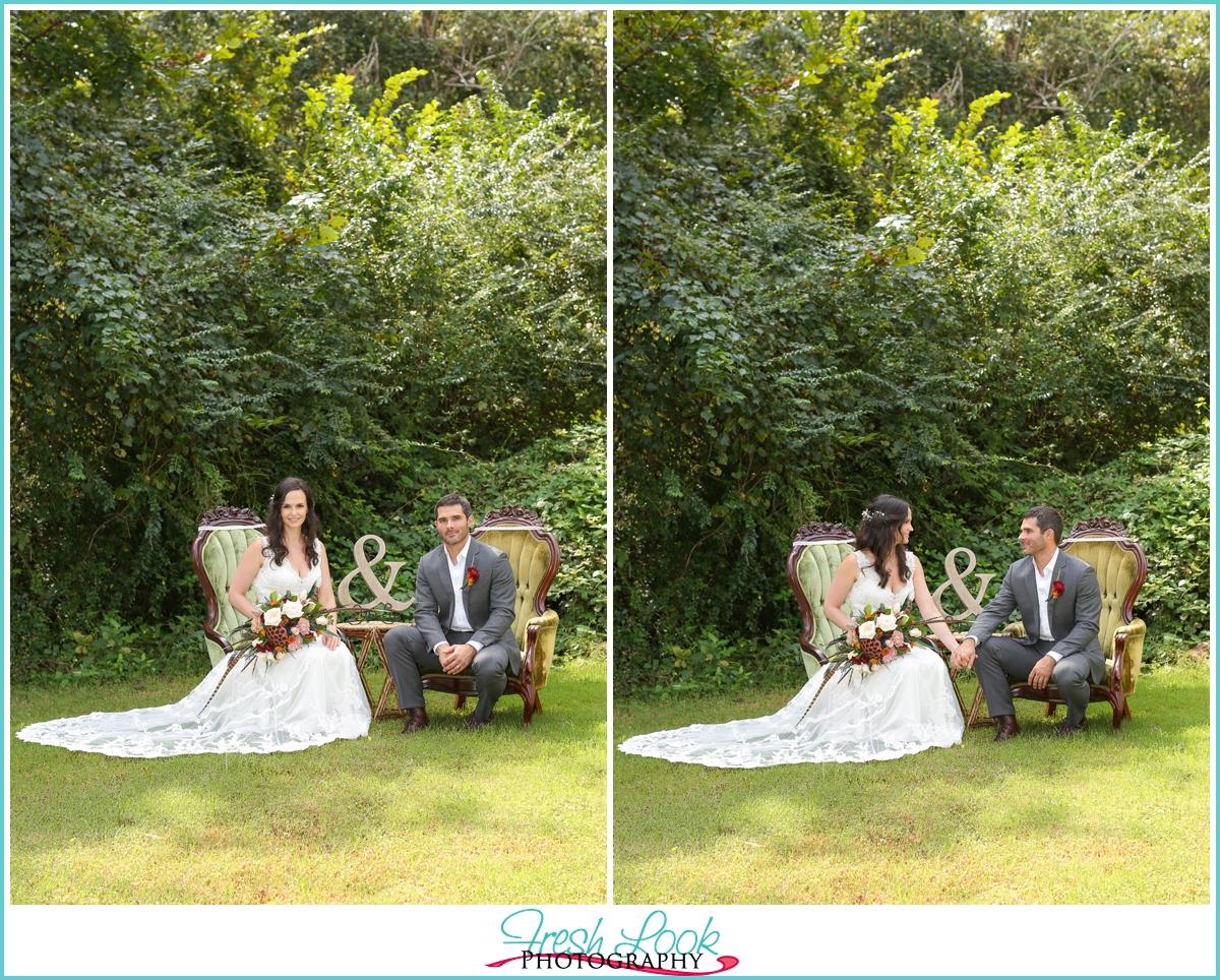 Church Point Manor Wedding Bride and Groom
