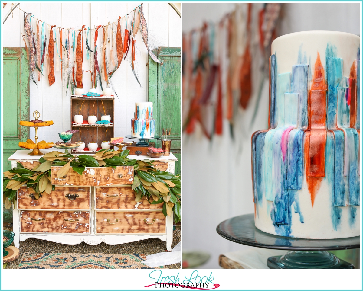 bohemian inspired woodsy wedding