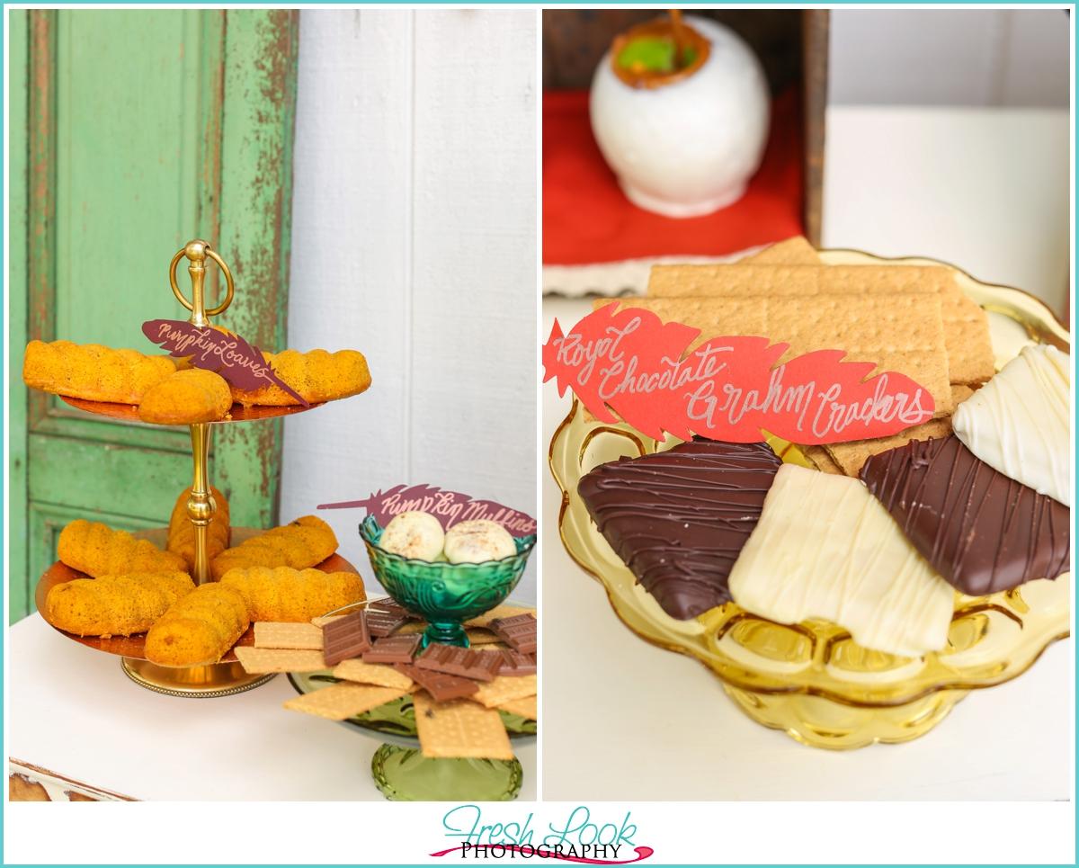 fall inspired wedding dessert