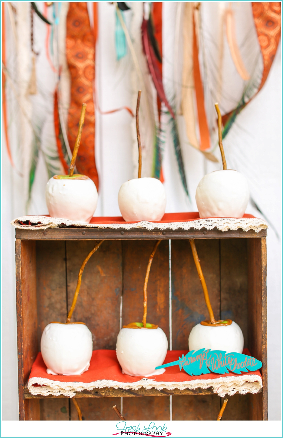 white chocolate covered apples