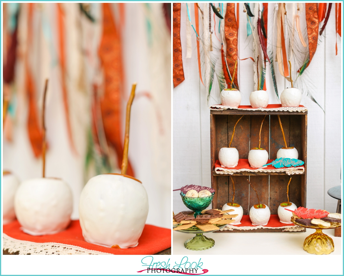 candy covered apples for the wedding