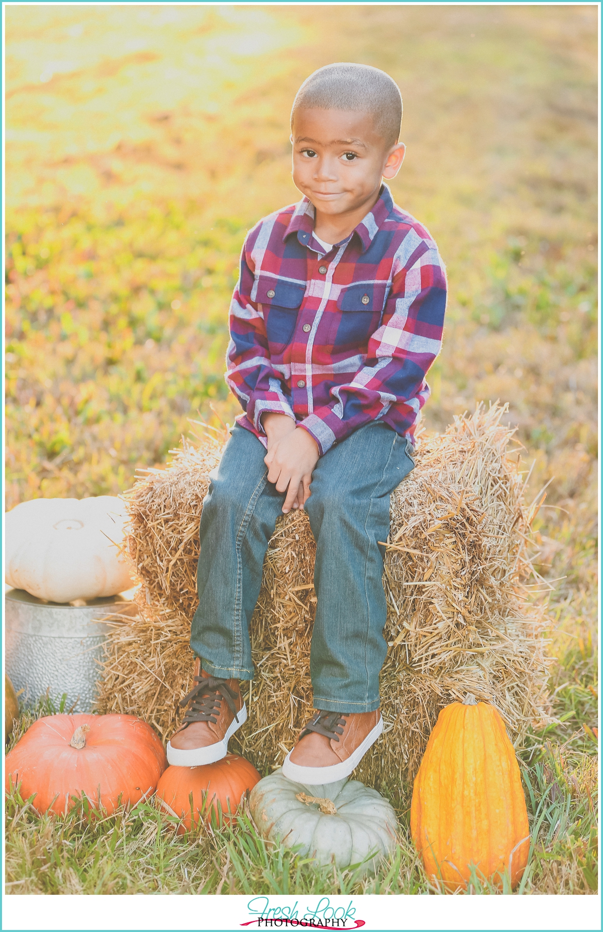 fall children's photo shoot