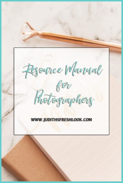 Resource Manual for Photographers