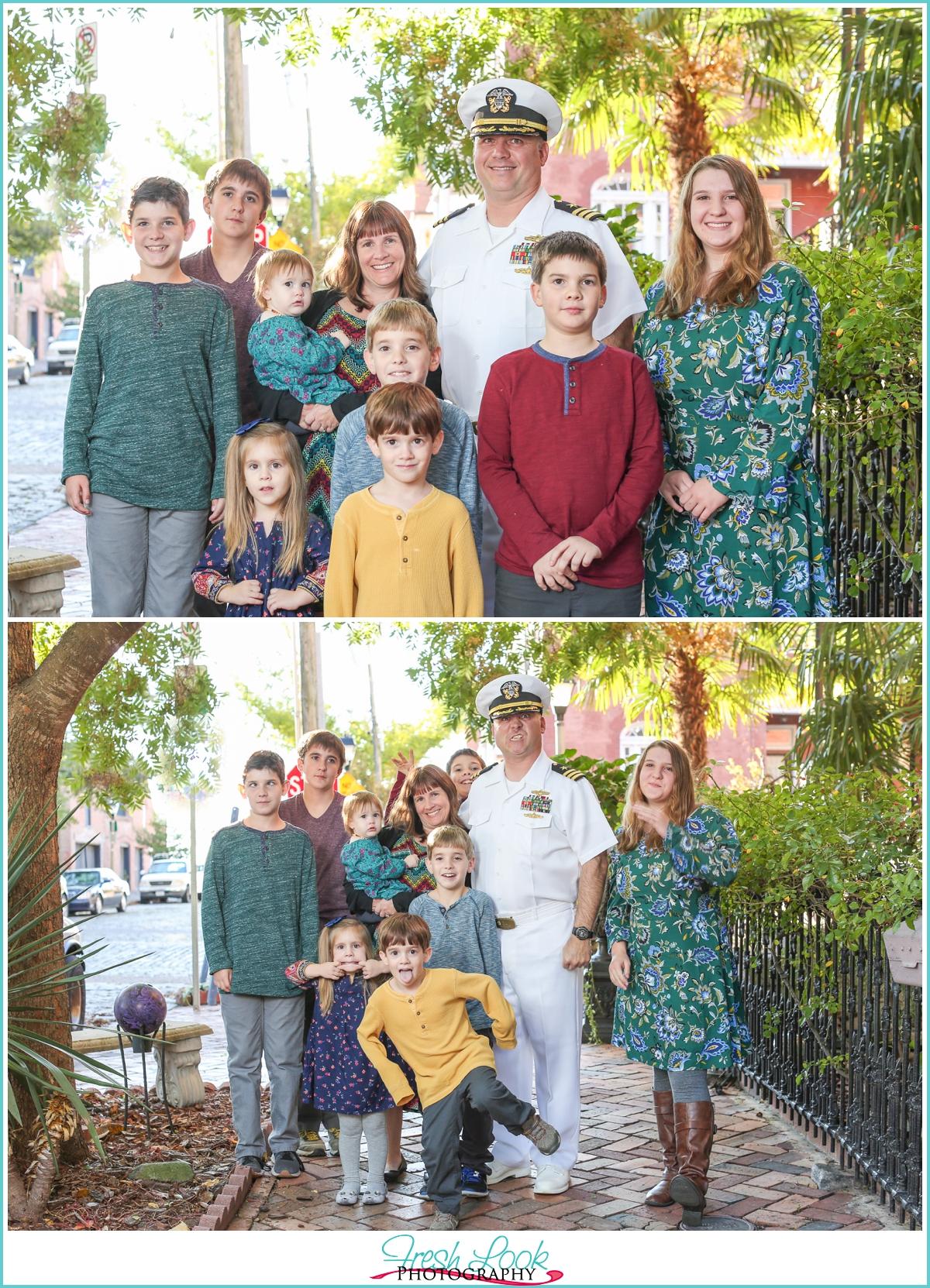 family of ten photo shoot