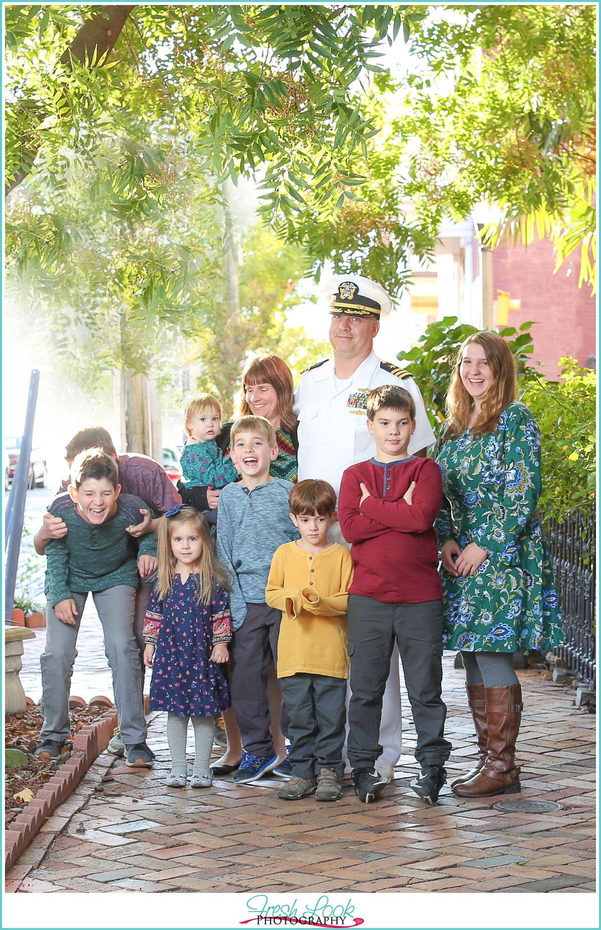 Military Family Holiday Photos