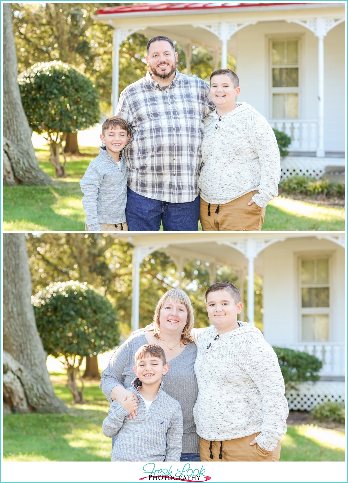 mother and sons photo shoot