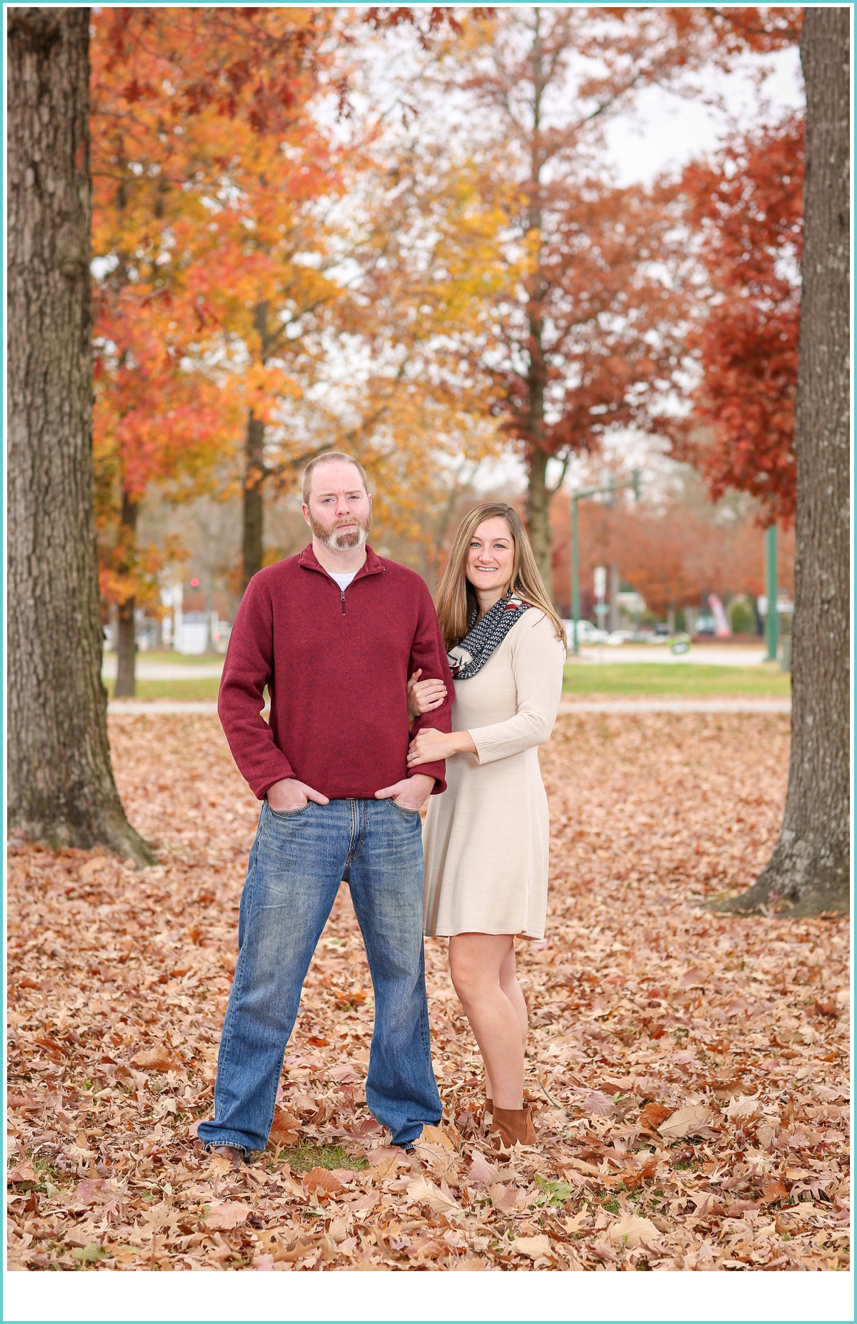 Newport News fall engagement session