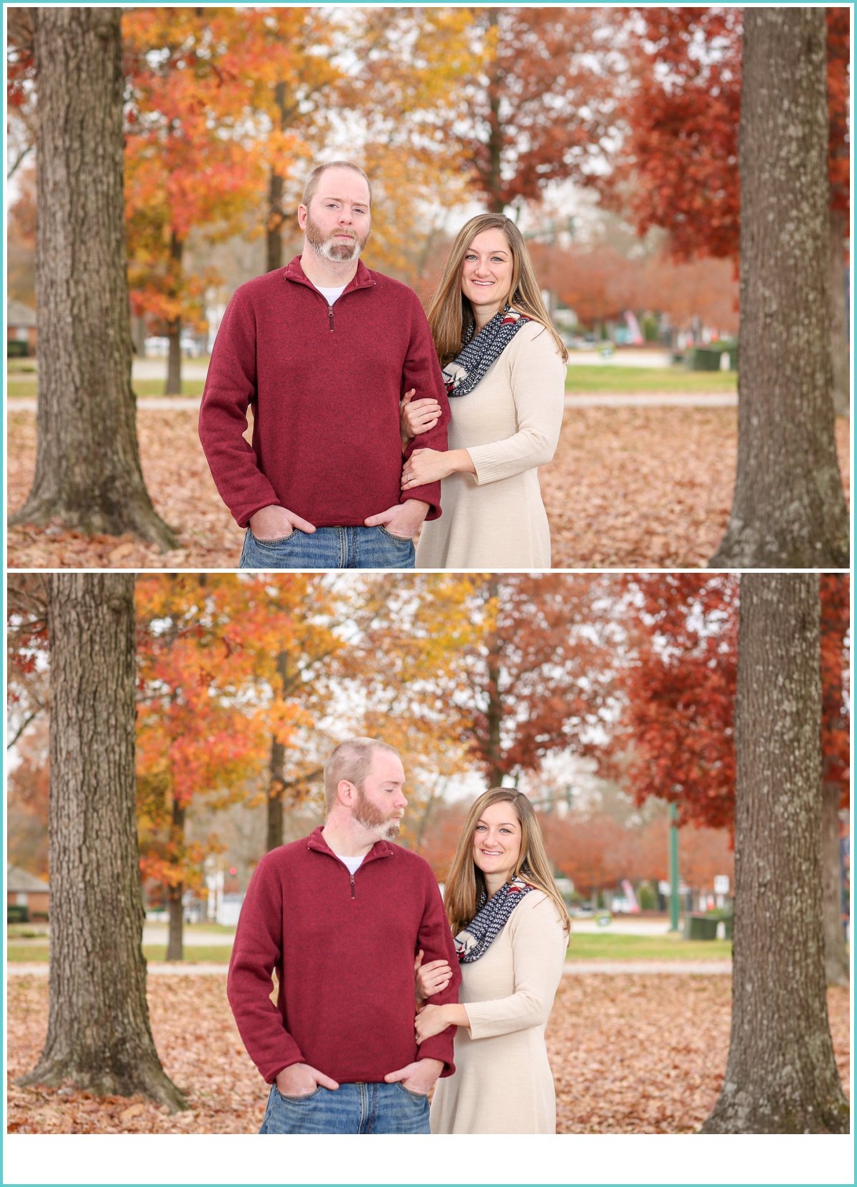 fall Virginia Beach engagement session