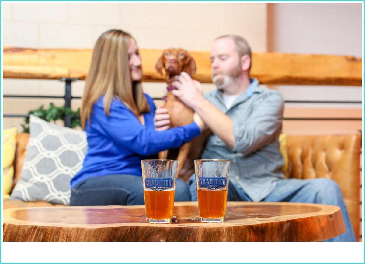 brewery engagement session with your dog