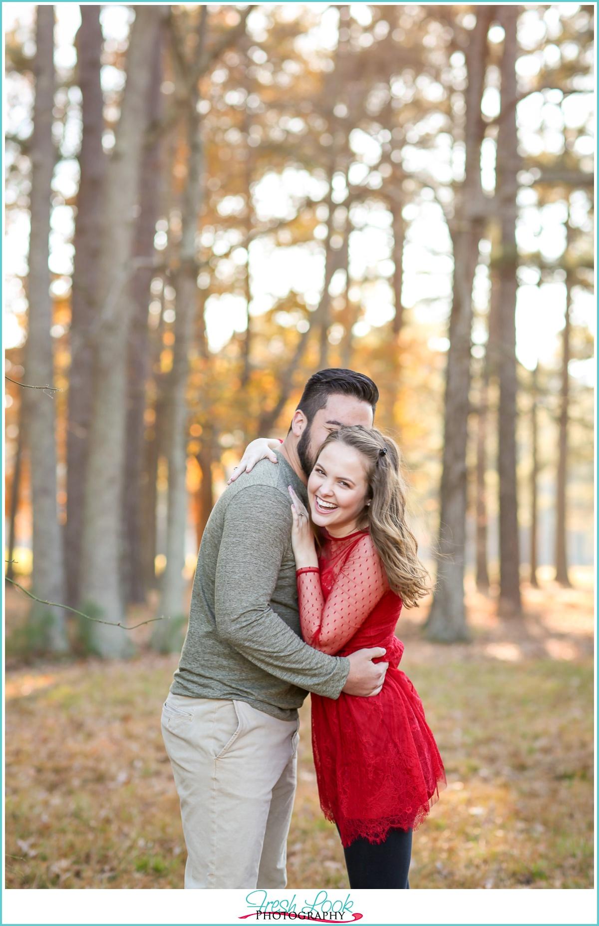 engagement photos with joy