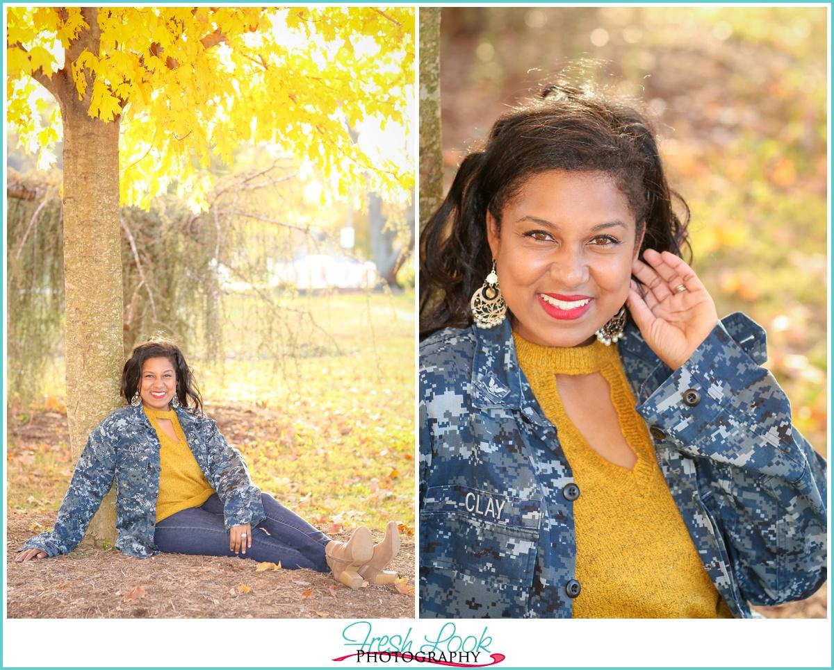 military spouse photo shoot