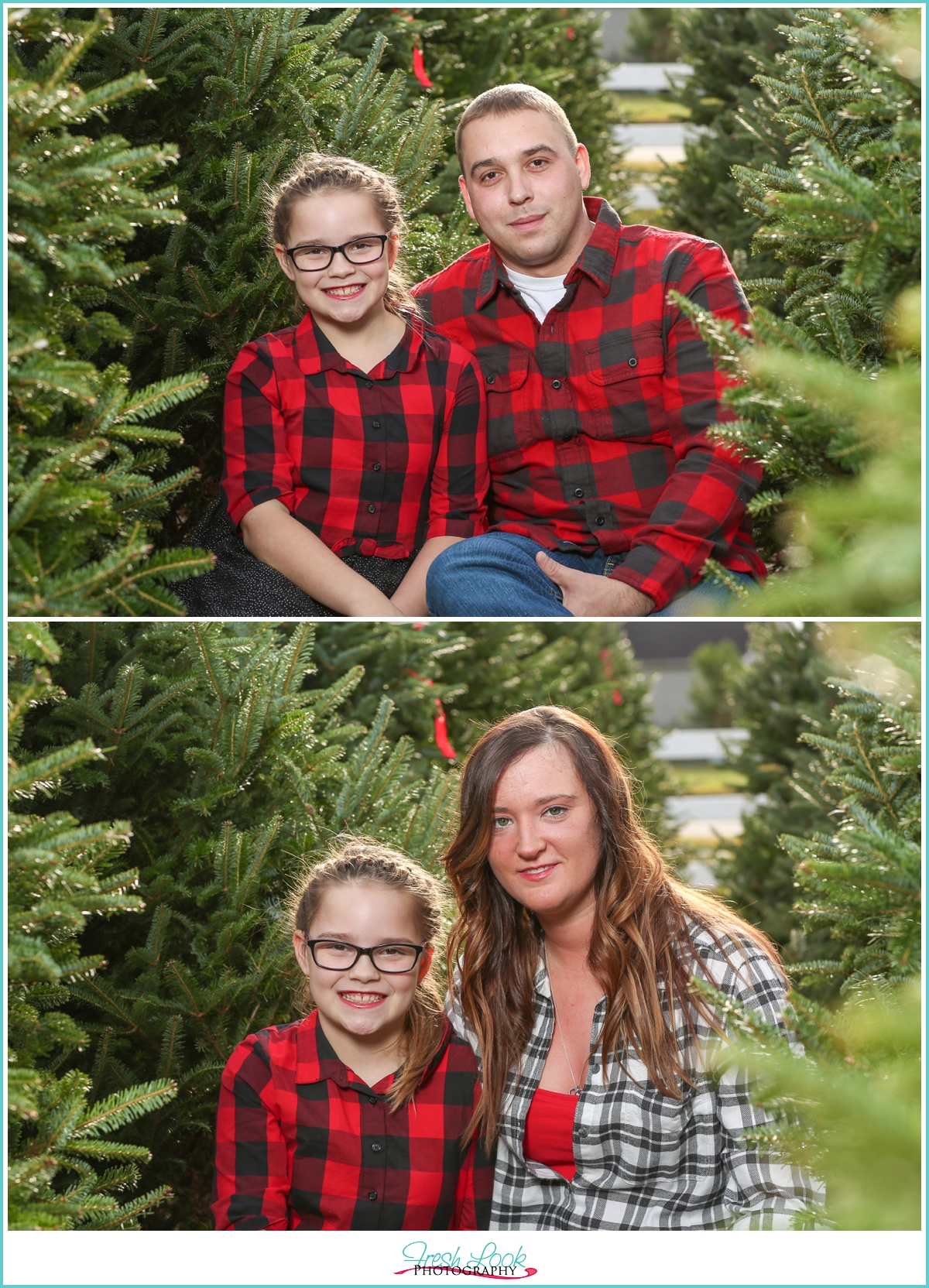 Christmas Tree Family Photos