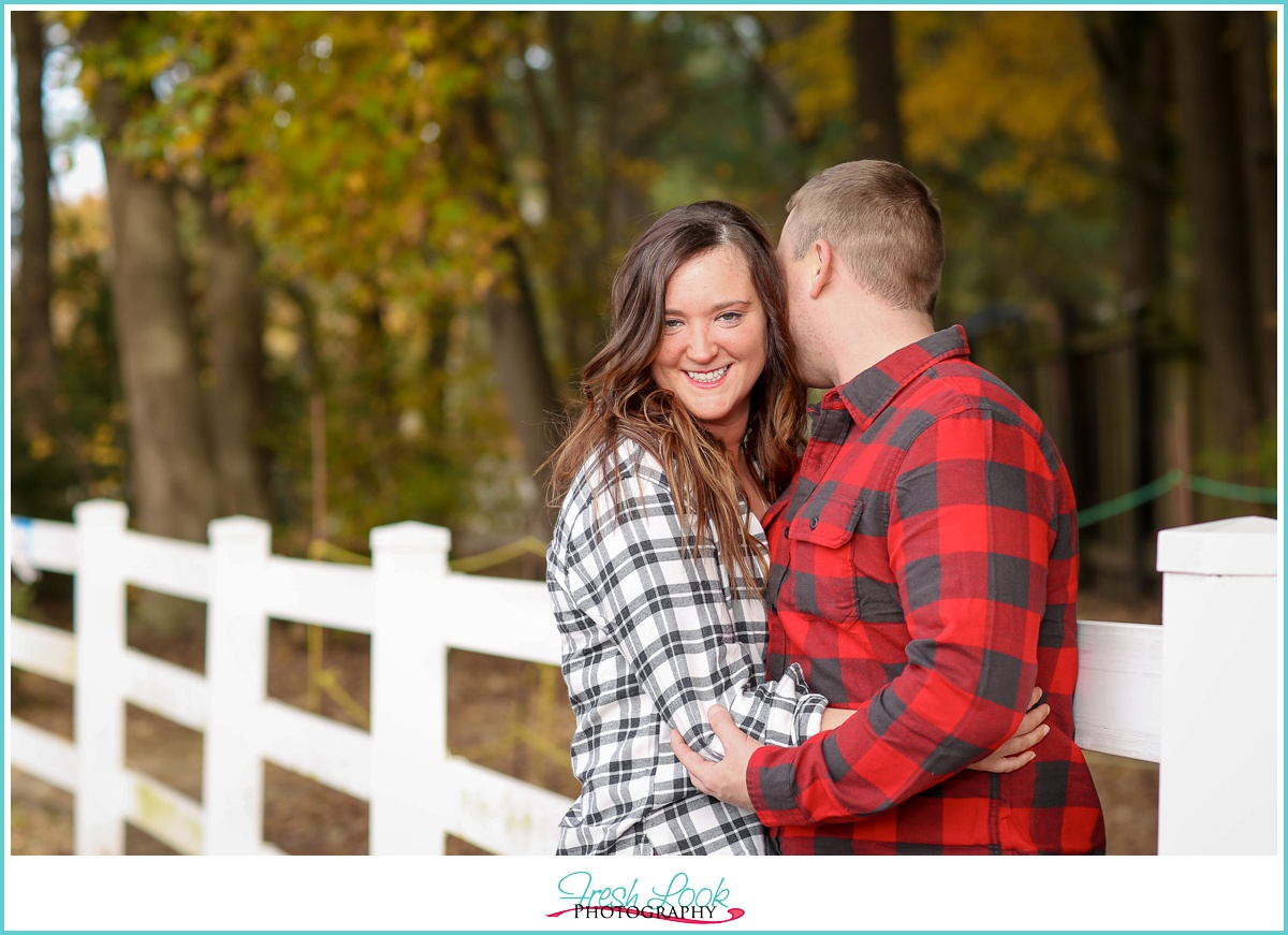 farm engagement photo shoot