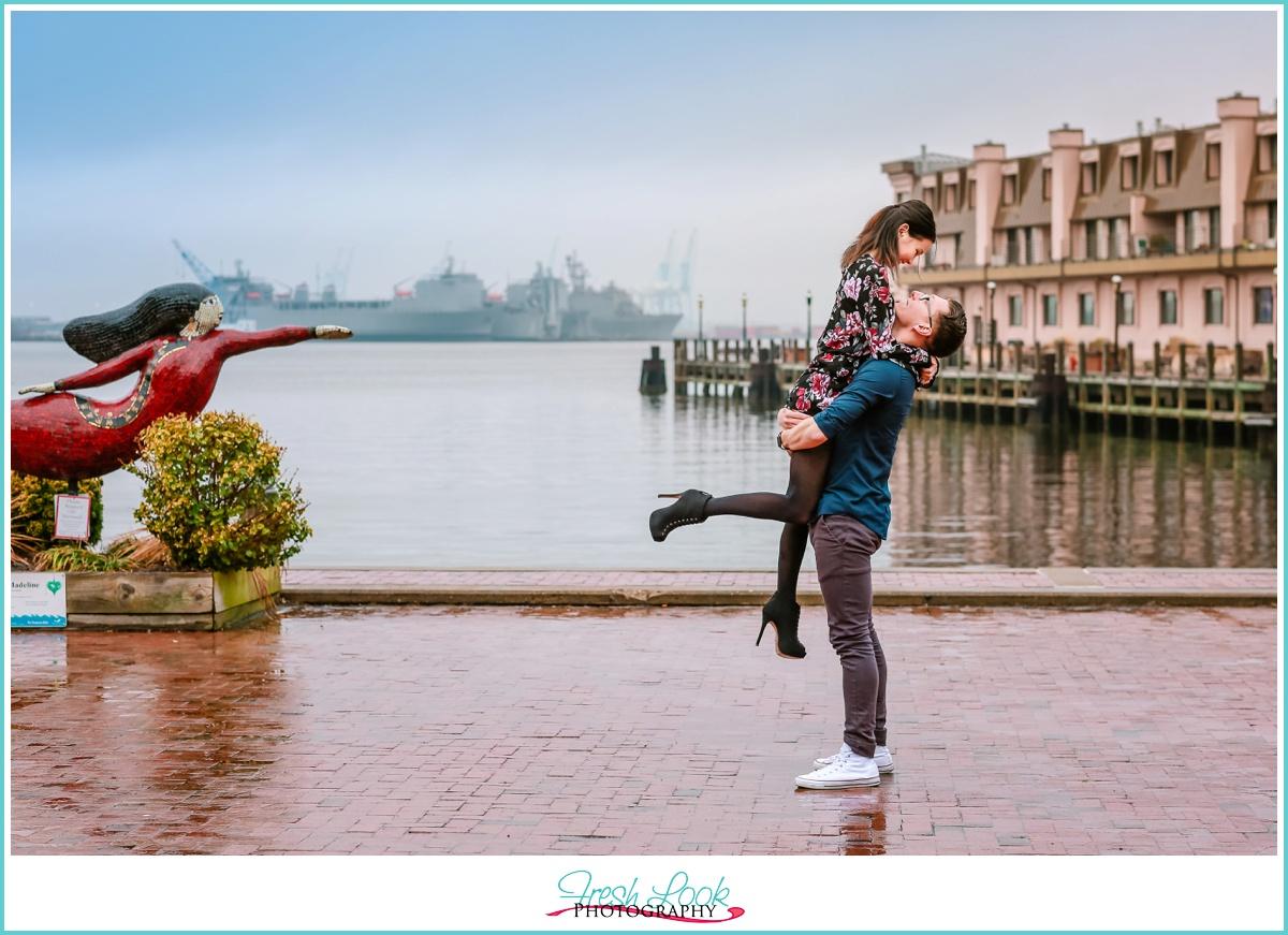 Norfolk Mermaid engagement shoot