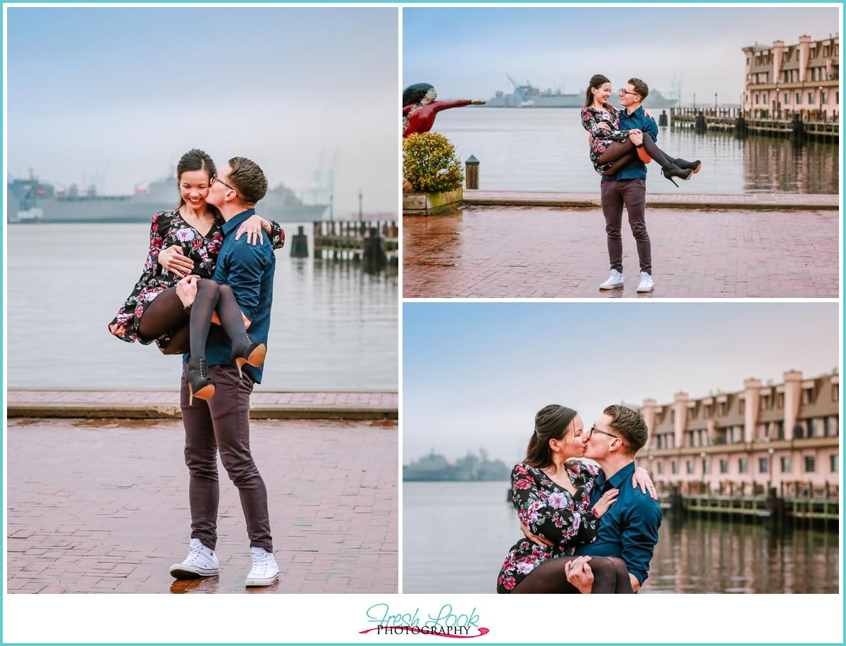 romantic Norfolk engagement photos
