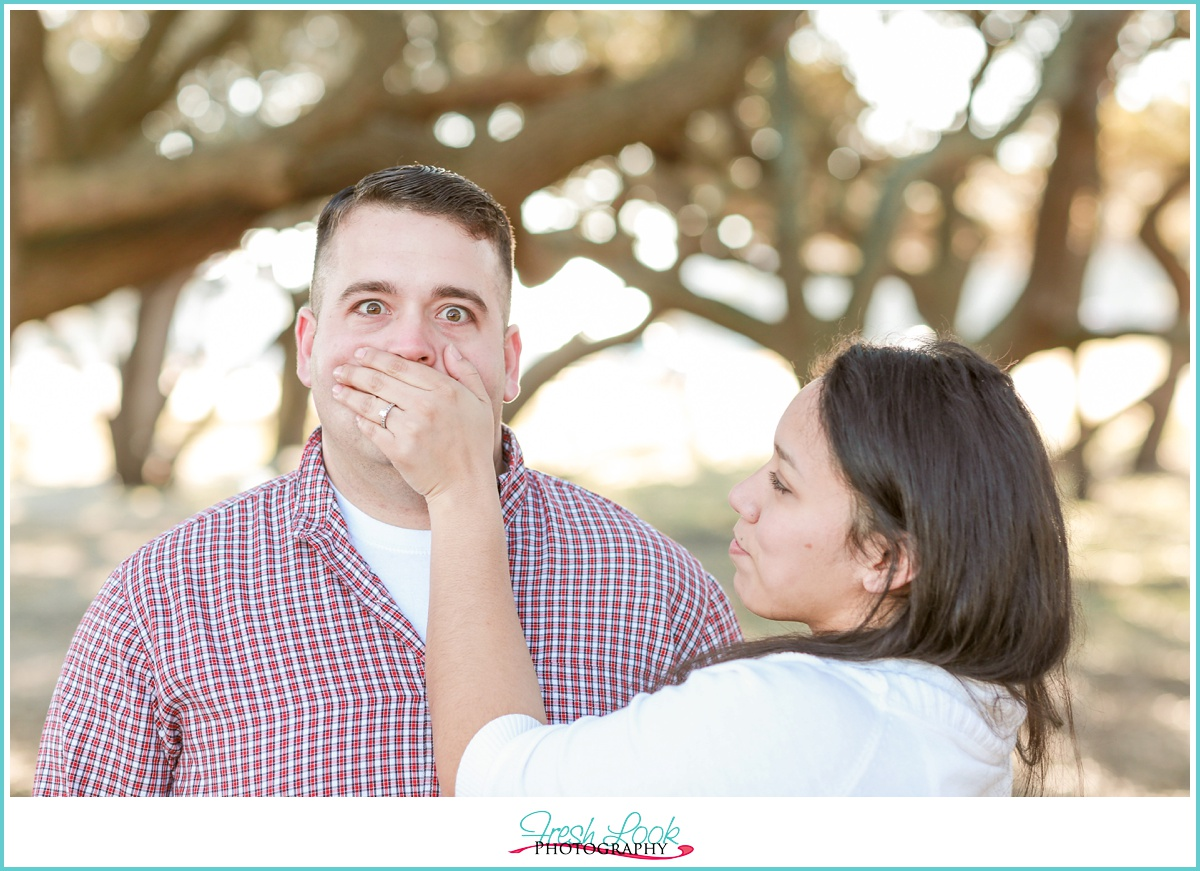 funny engagement session ideas