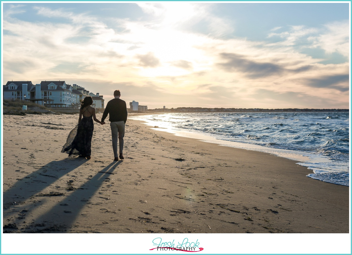walking into the sunset together