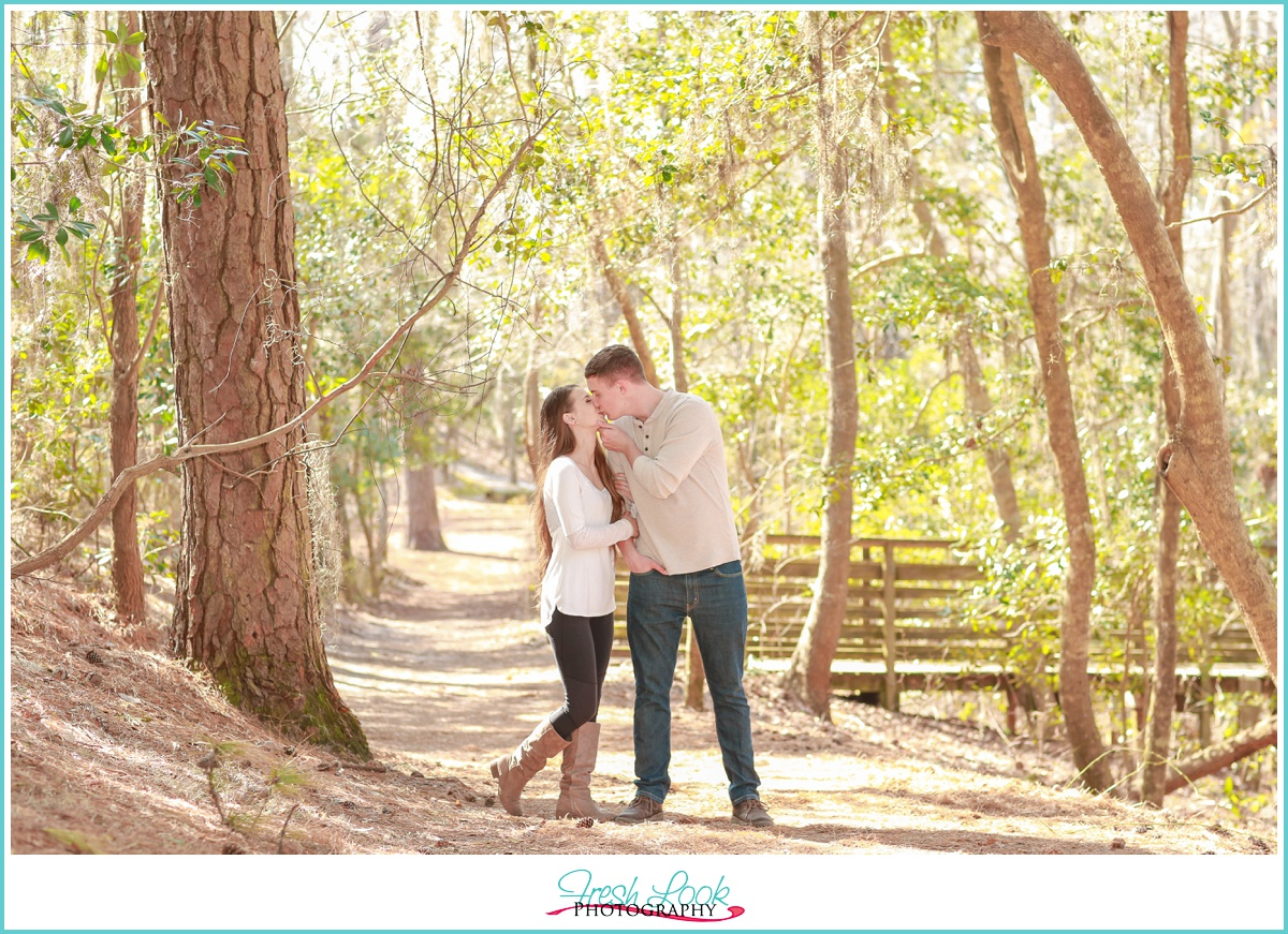 spanish moss engagement photos