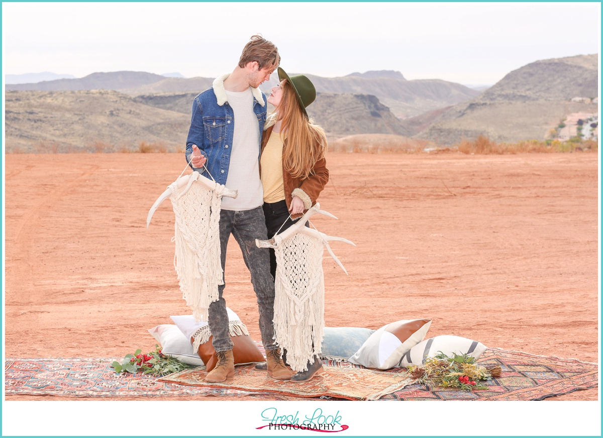 Desert Engagement Photography