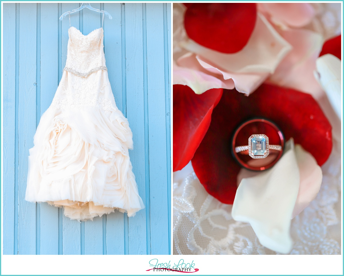 Wedding Gown and Engagement Ring