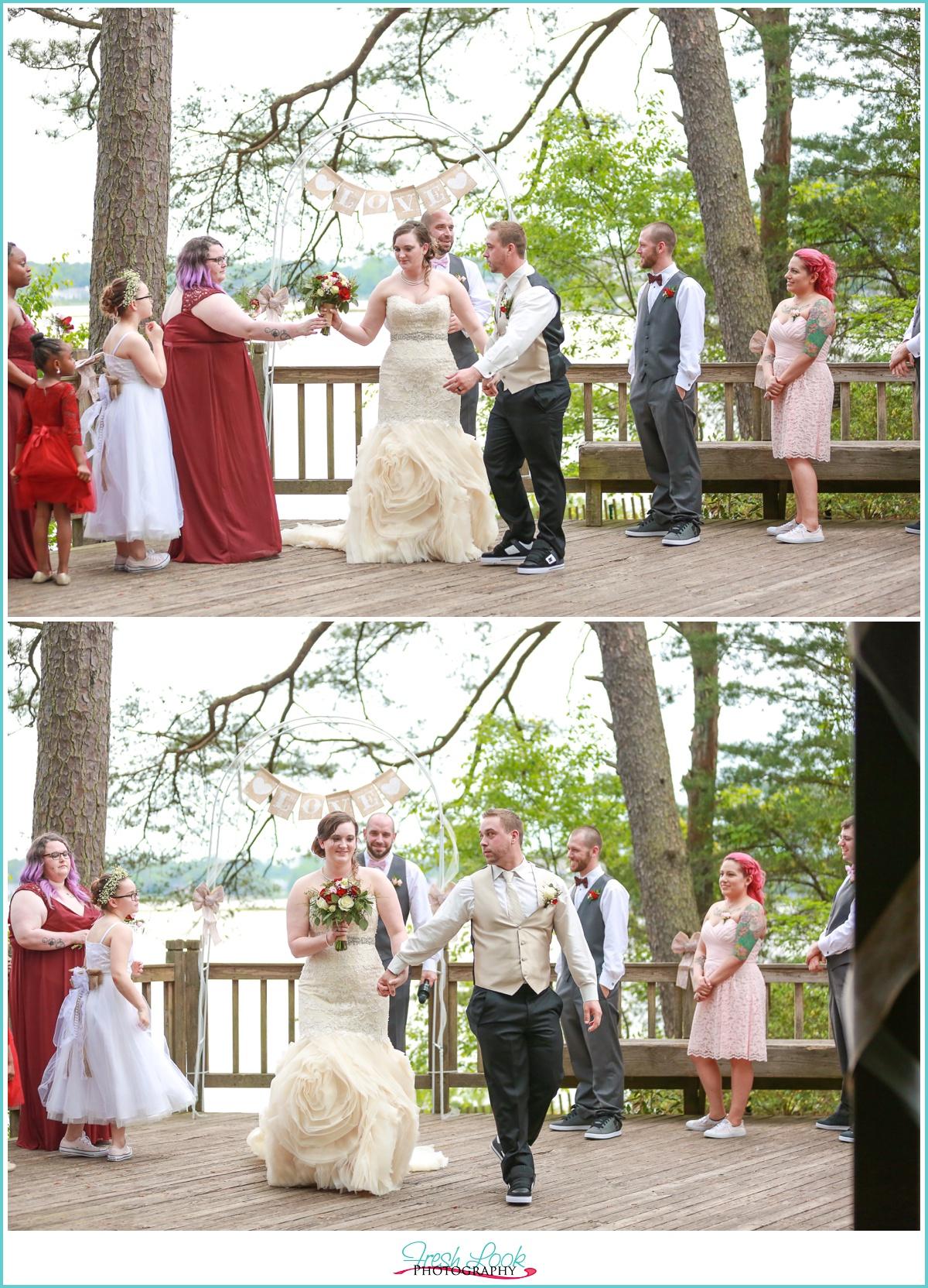 Outdoor Virginia Beach Wedding