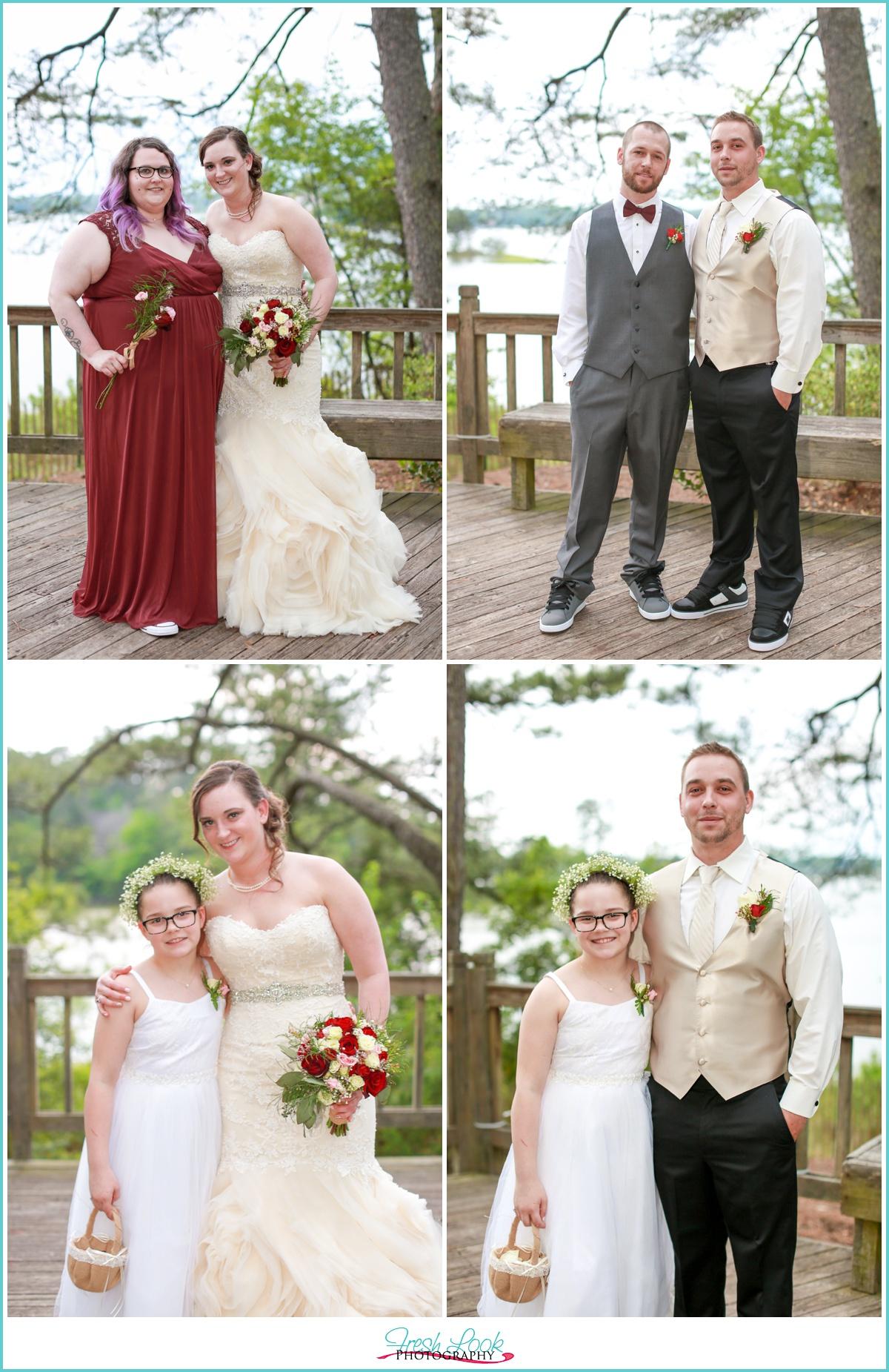 Virginia Beach bridal party