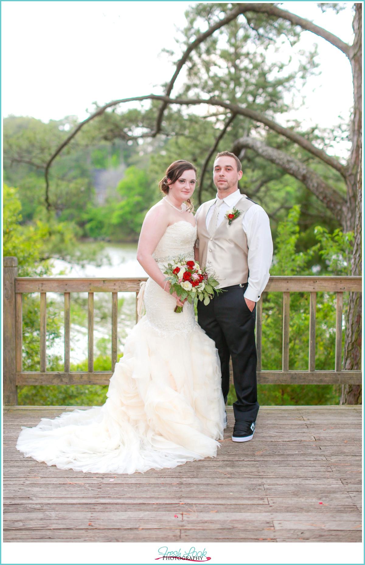 Virginia Beach Bride and groom