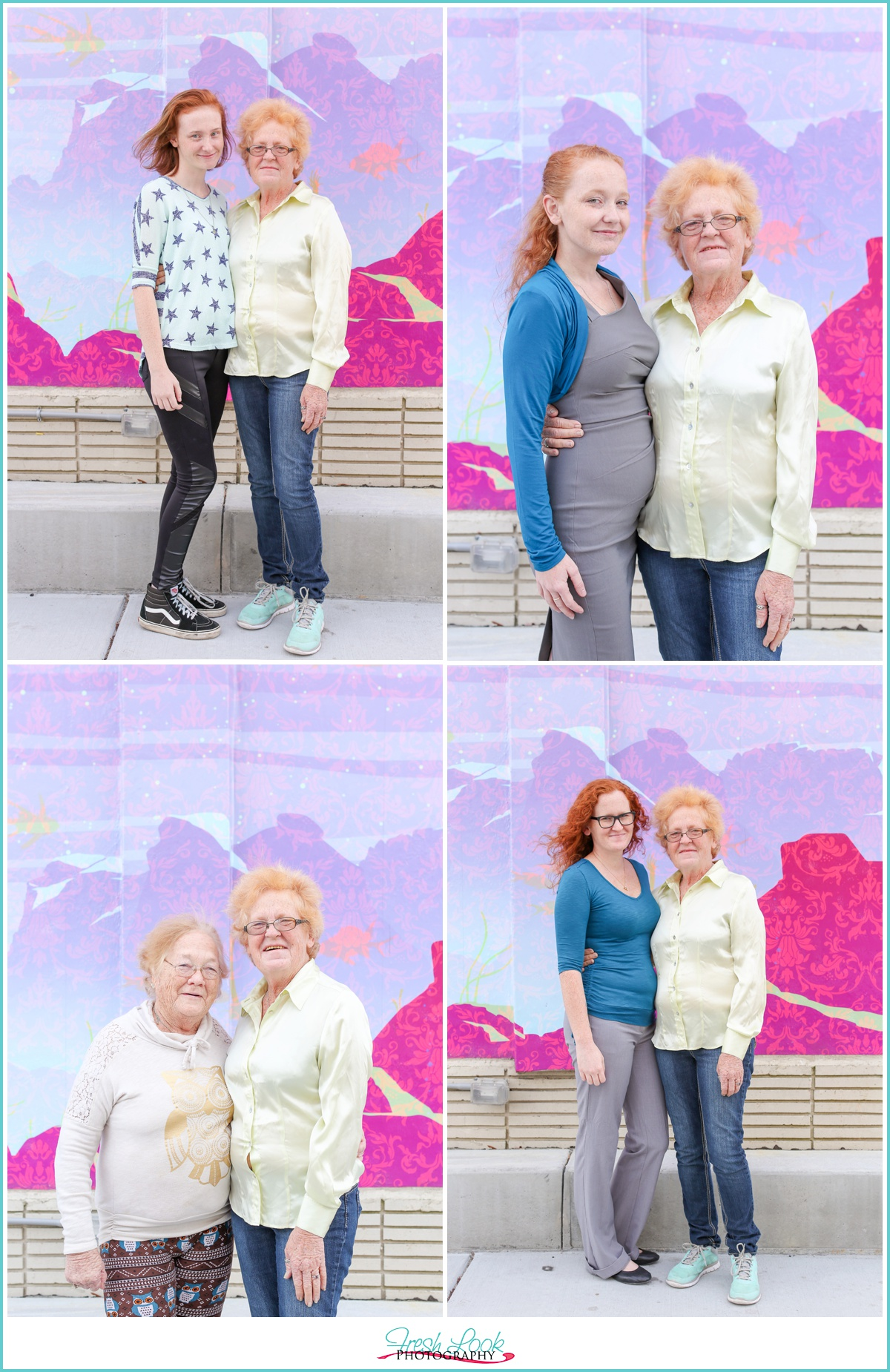 mothers and daughters photo shoot