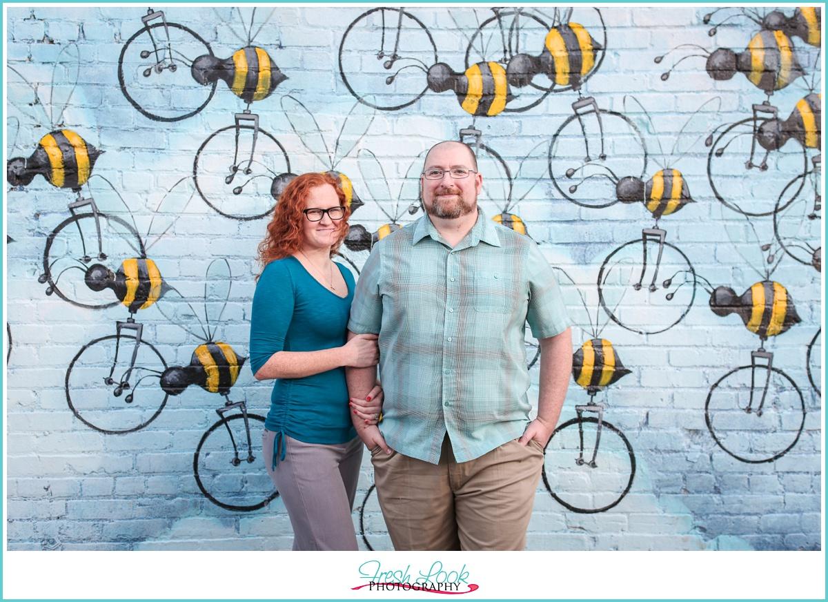 romantic bumble bee artwork