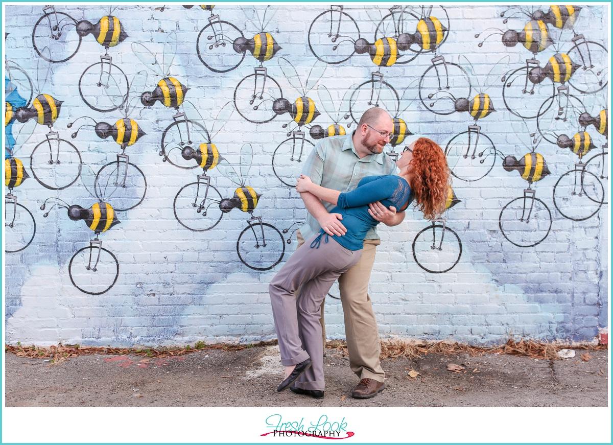 romantic engagement session Norfolk