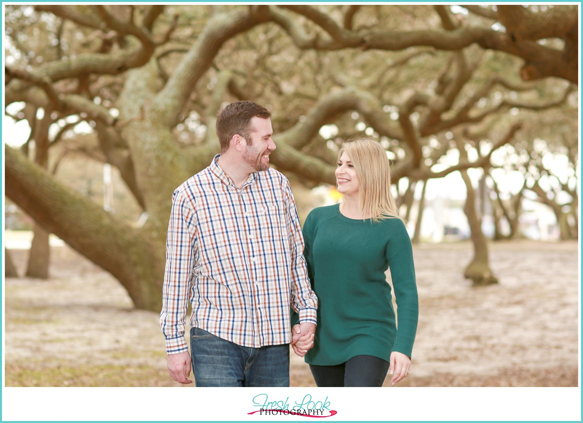 Twisted Live oaks engagement photos