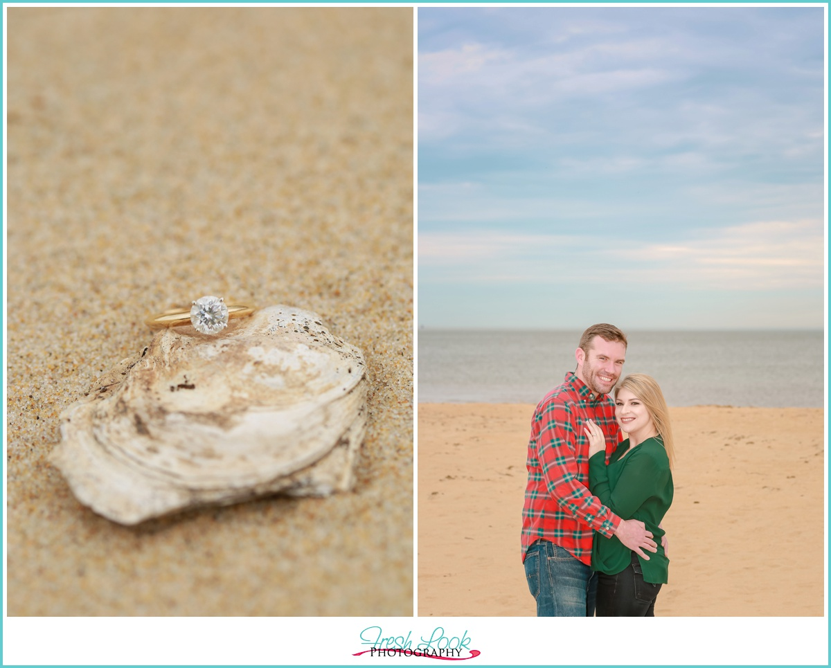 Beach photos engagement session
