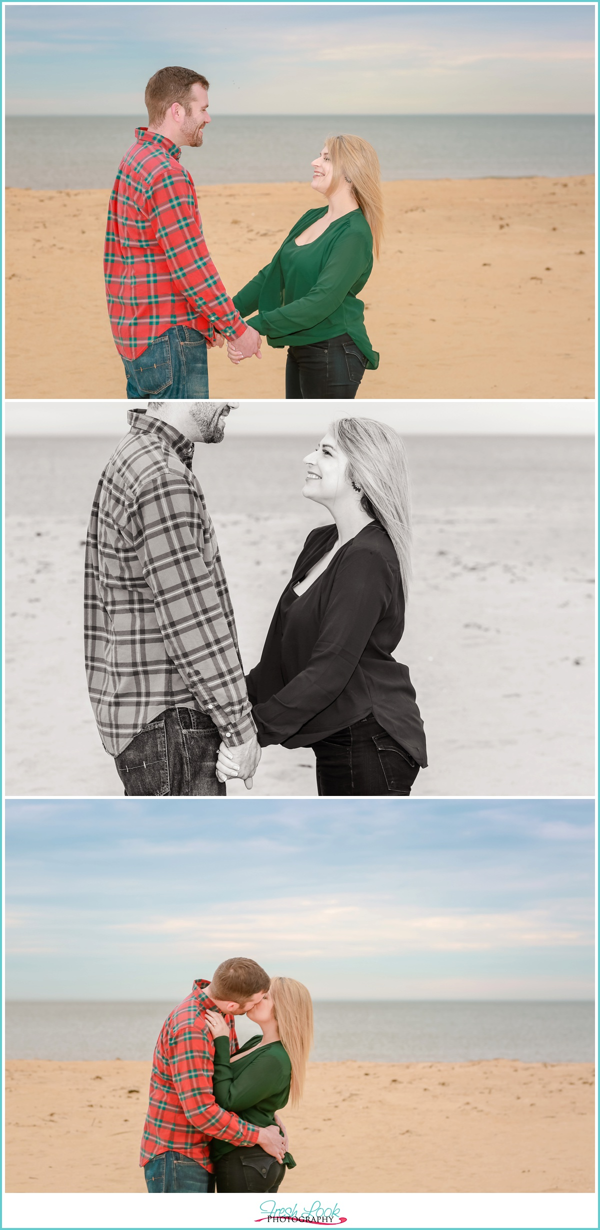 Sarah Constant Beach Park engagement shoot