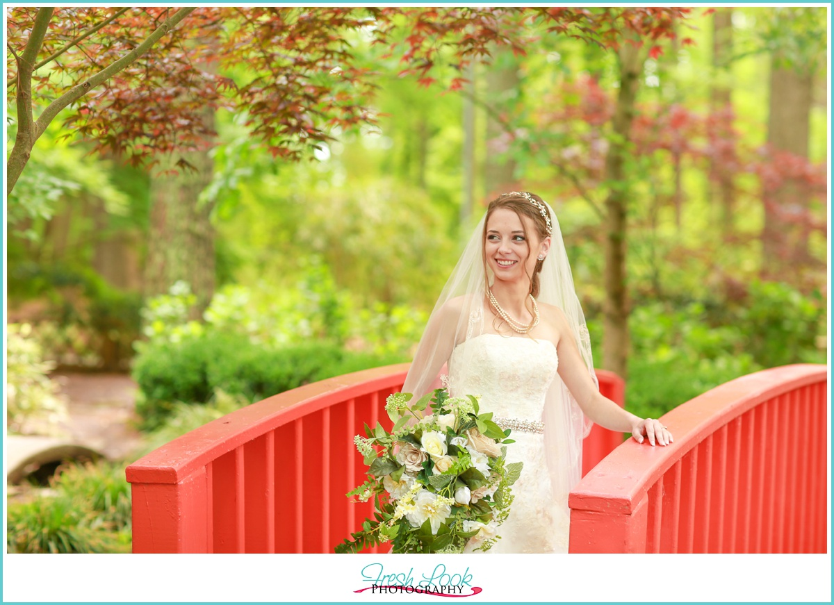 romantic woodsy bridal session