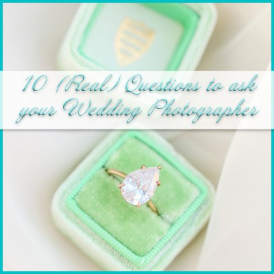 10 Real Questions to Ask Your Wedding Photographer