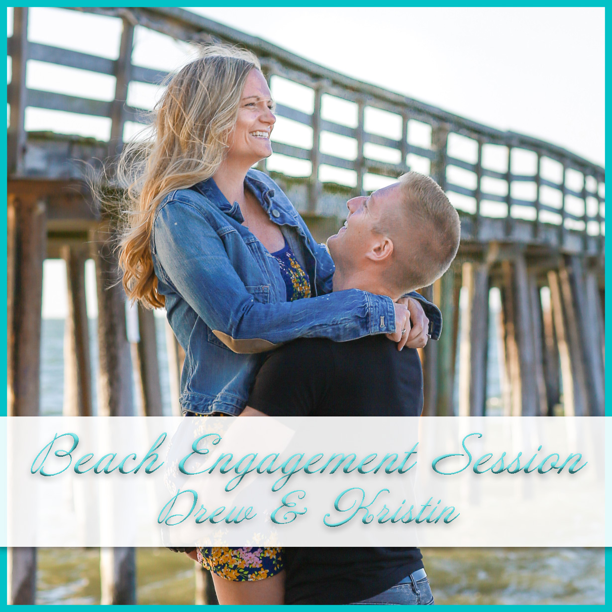 Beach Engagement Session with the dog