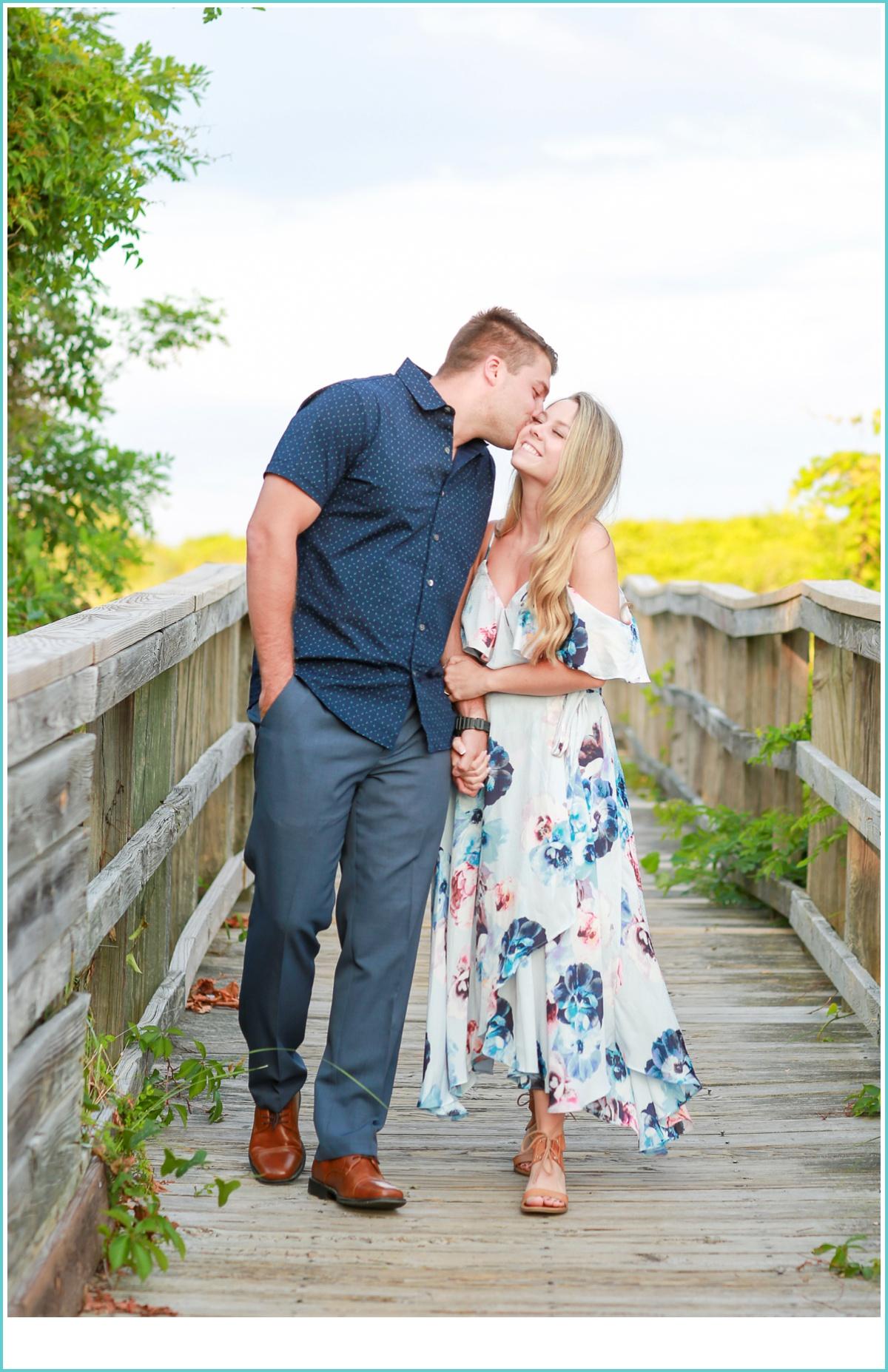 romantic walk during photo shoot