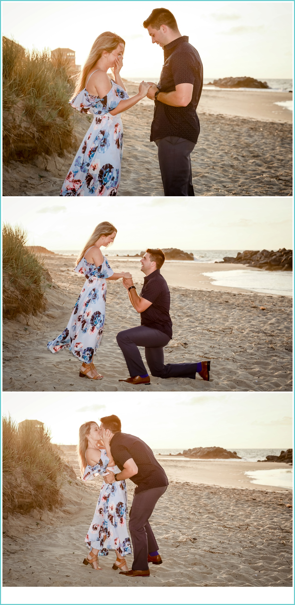 beach proposal in the sand