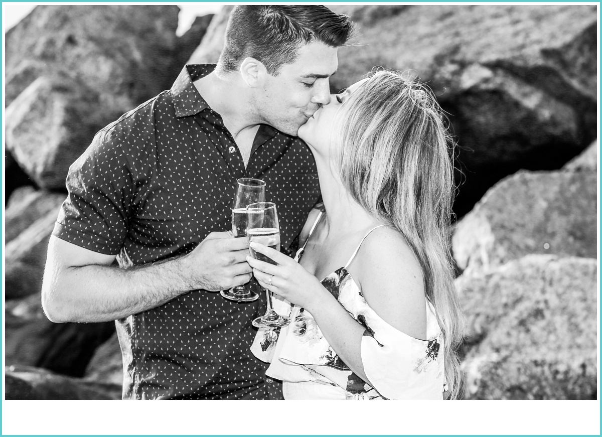 romantic black and white kiss