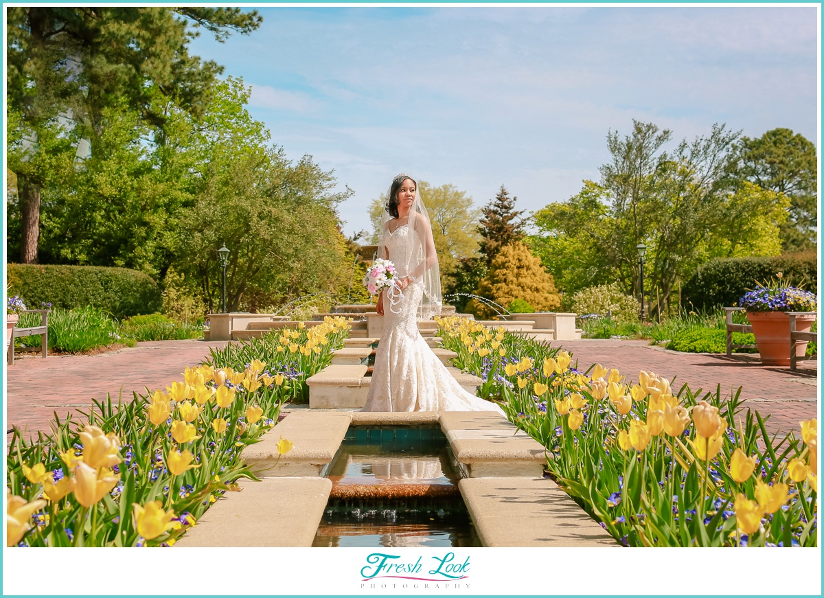 Norfolk Botanical Gardens Bride