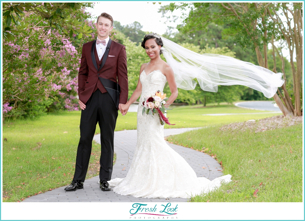 summer wedding at norfolk botanical garden