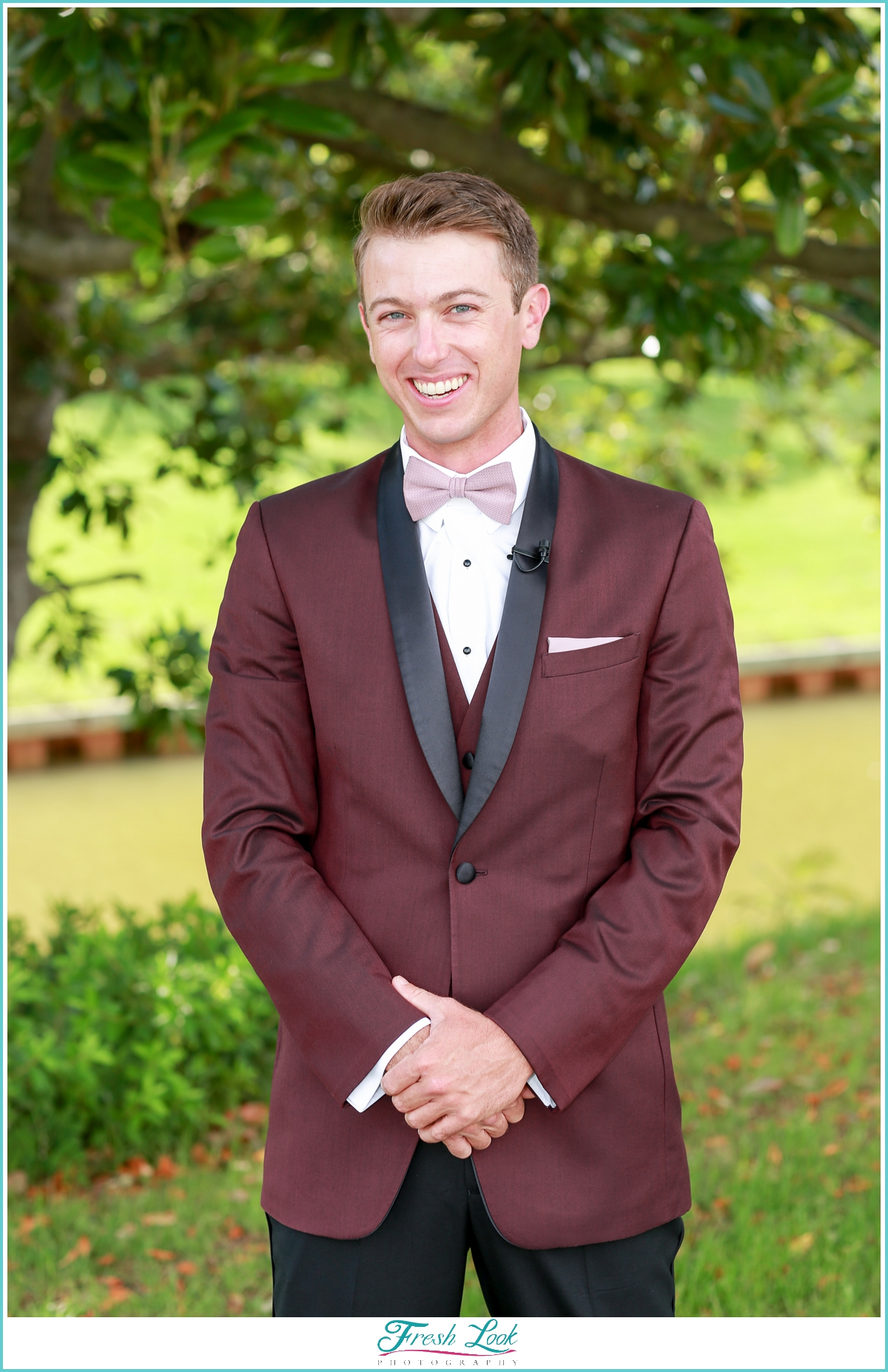 dapper groom at the wedding