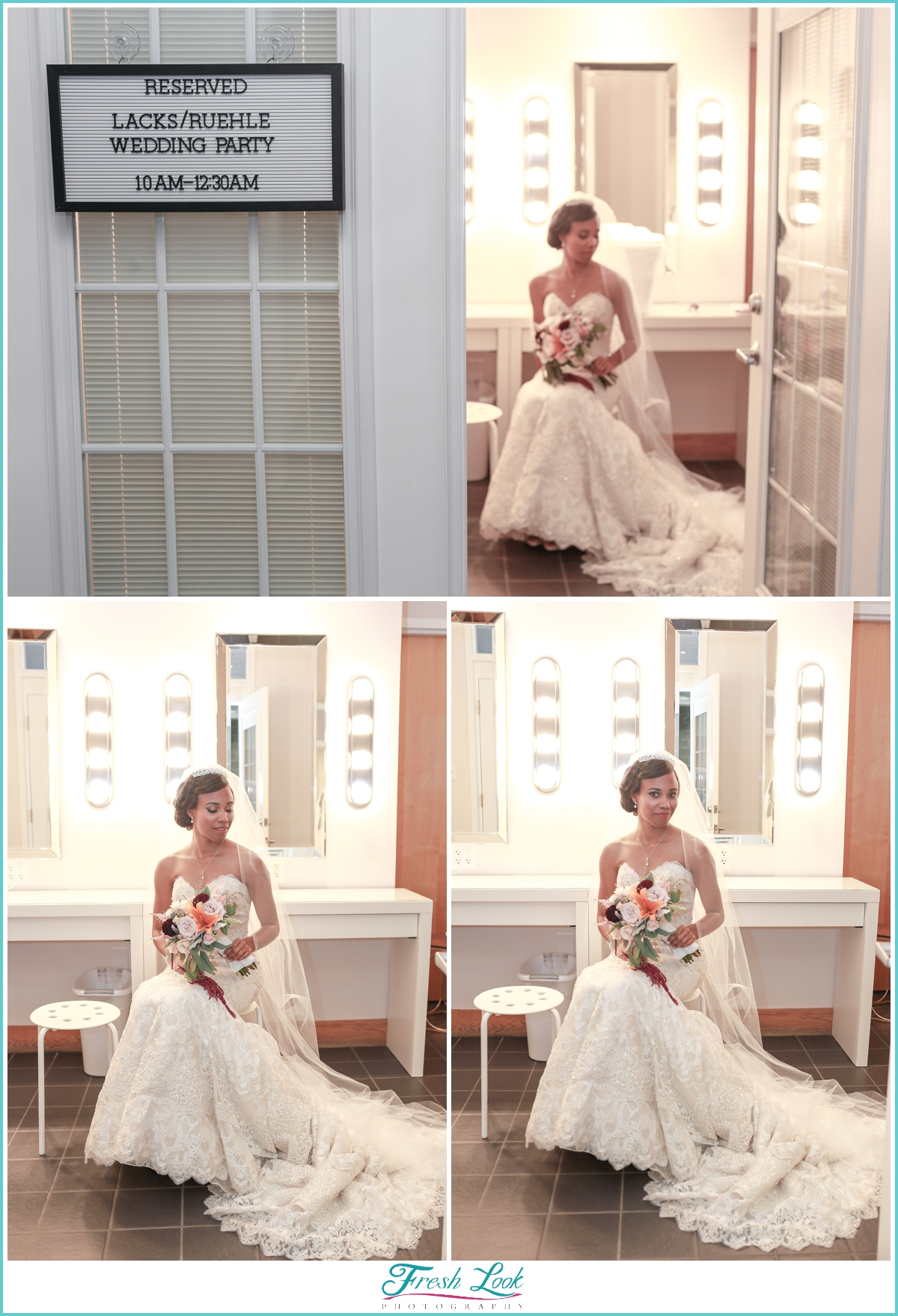 Bride reflecting before the wedding