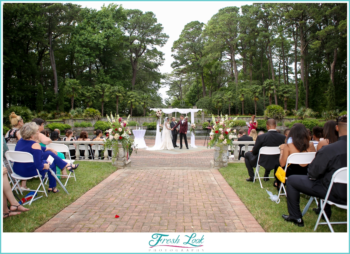 ... Renaissance Court wedding at Norfolk Botanical Garden ...