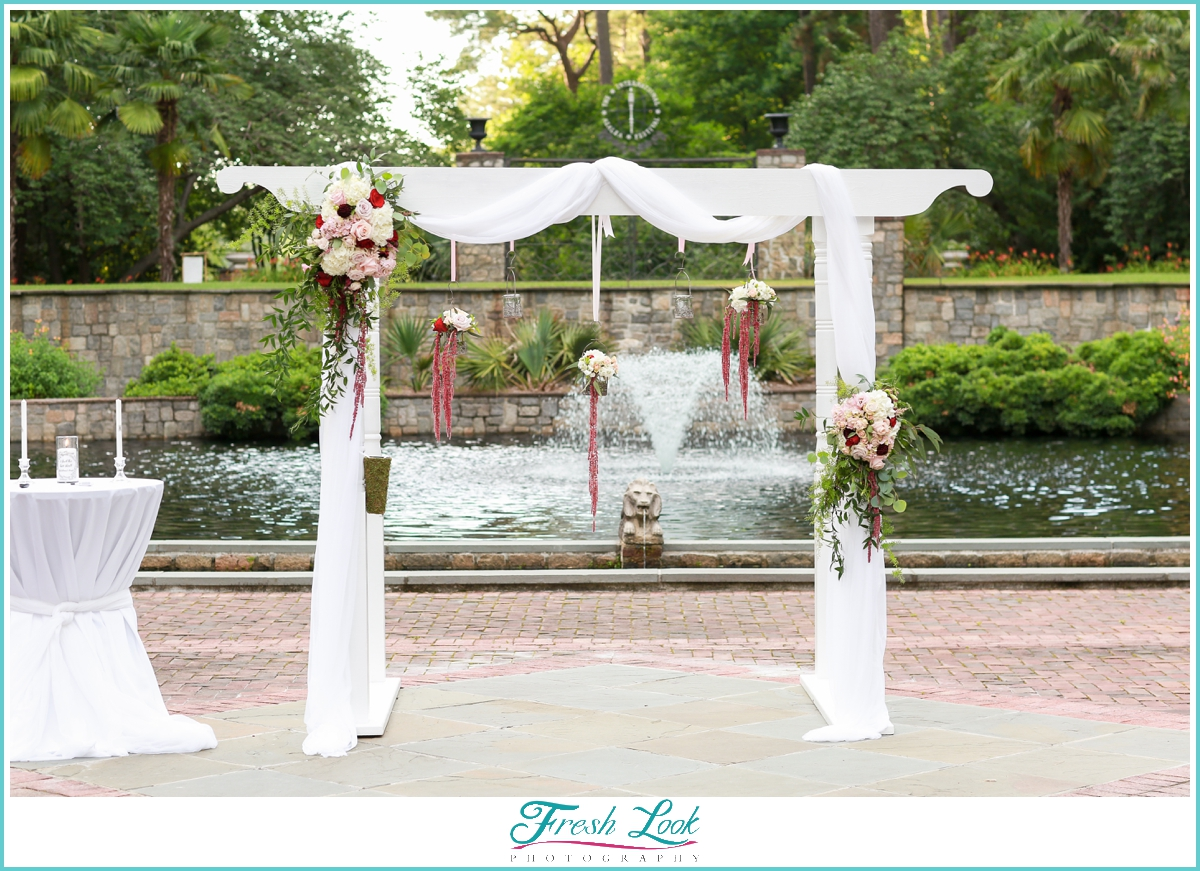 handmade wedding arch