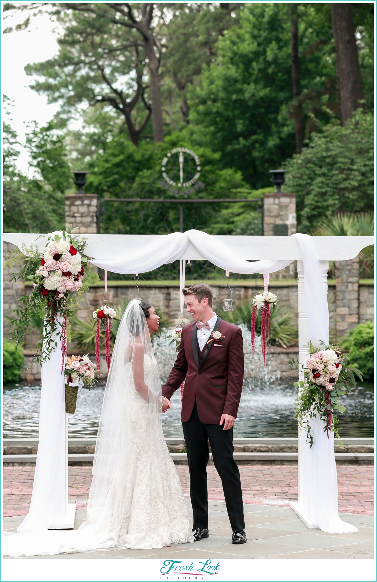 joyful bride and groom portraits